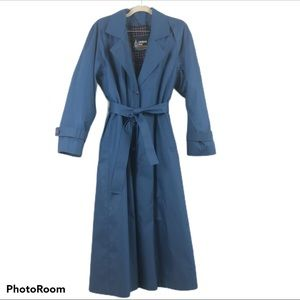 London Fog Lined Trench Coat Size 10